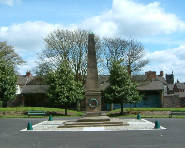The Tunstall War Memorial Obelisk